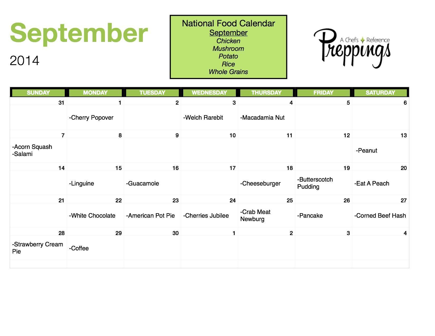 National Food Days- September 2014