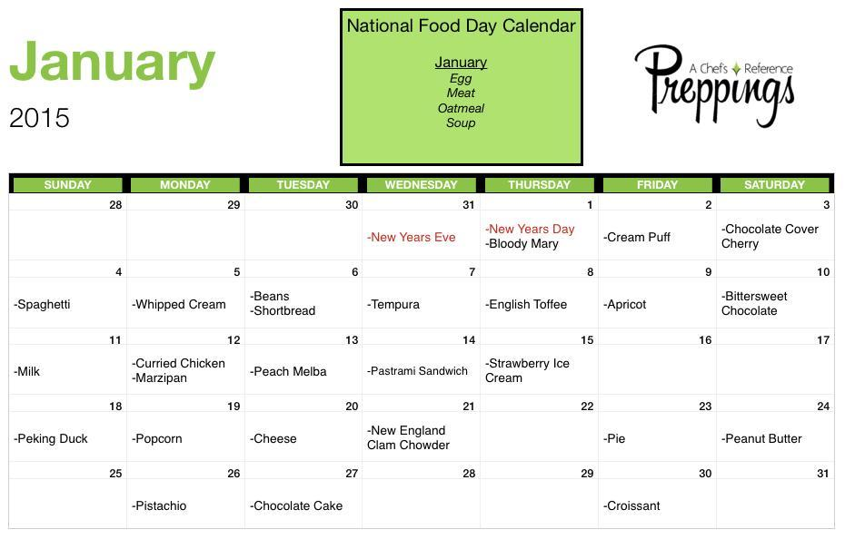 National Food Days- January 2015