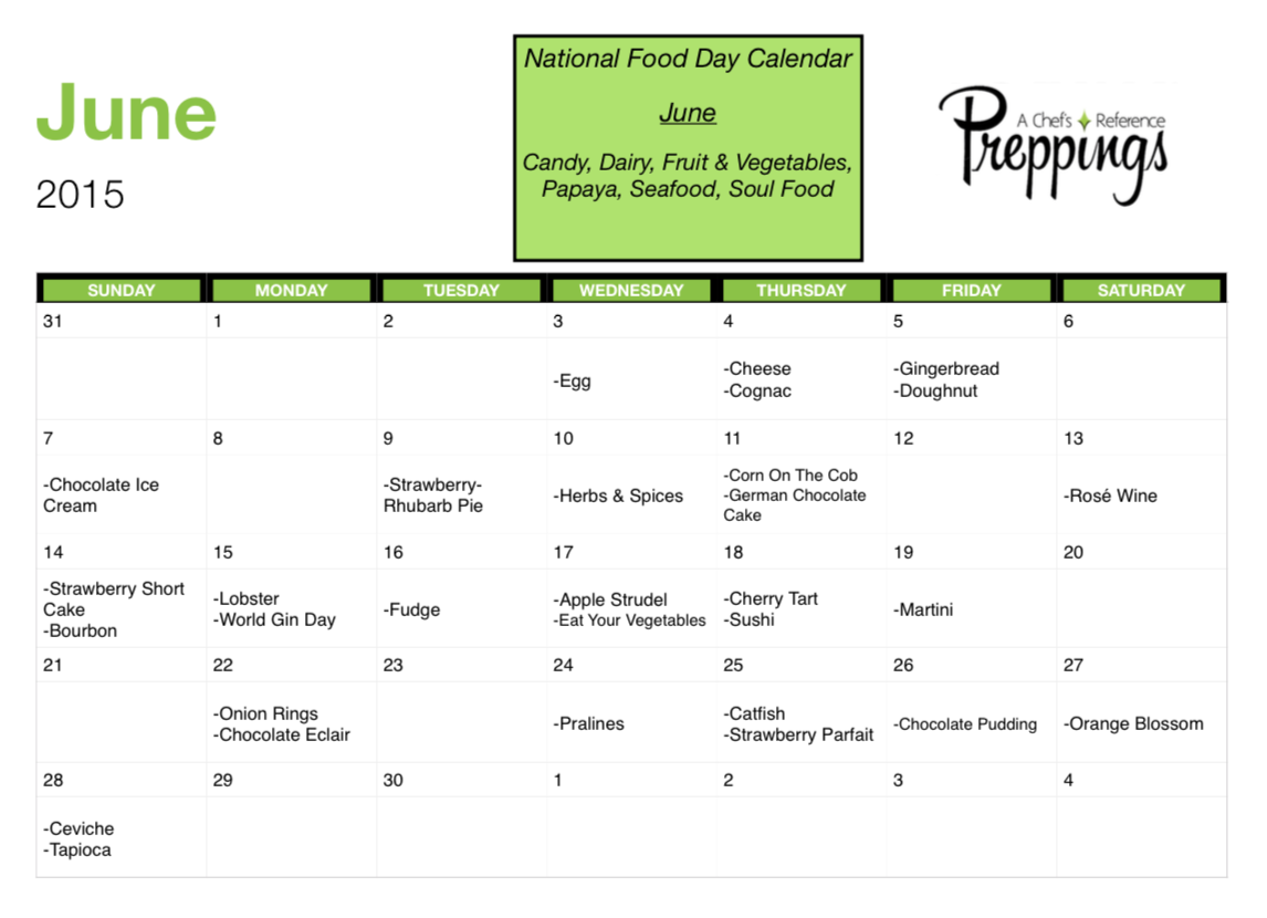 National Food Days- June 2015