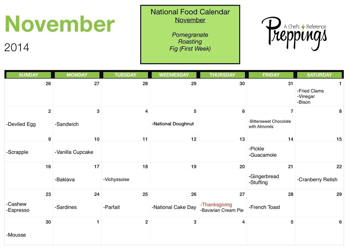 National Food Days- November 2014