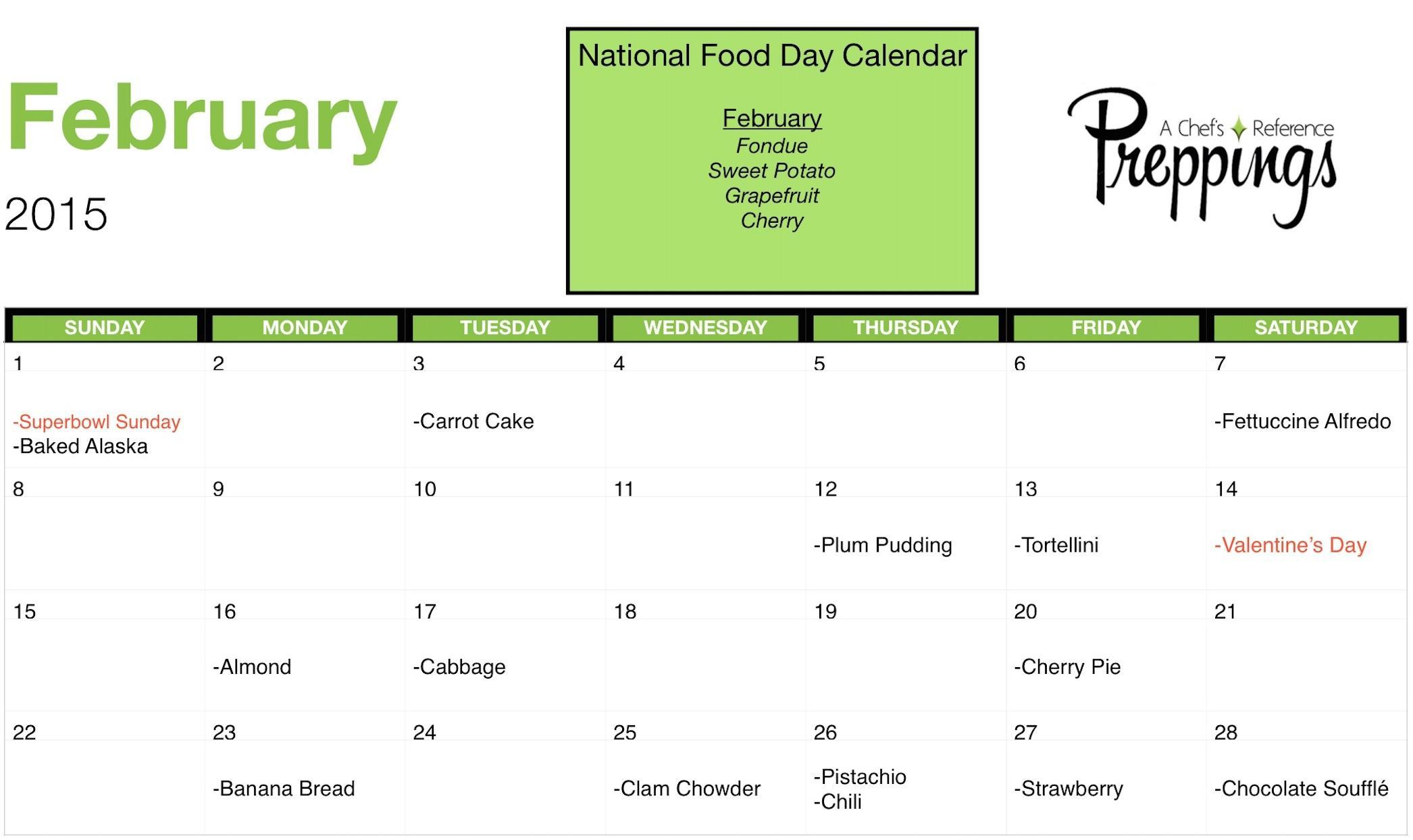 National Food Days- February 2015